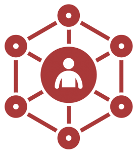 illustrated image of a generic person in a large center circle surrounded by six smaller connected circles