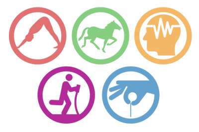 color icons representing the many different types of holistic treatment programs