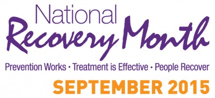 Banner graphic showing National recovery Month September 2015