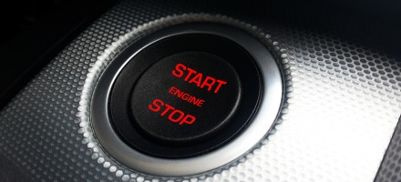 Start button for car engine.